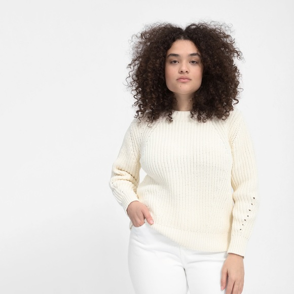 Everlane Sweaters - everlane The Texture Cotton Crew in bone